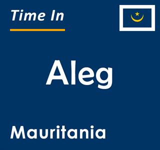Current time in Aleg, Mauritania