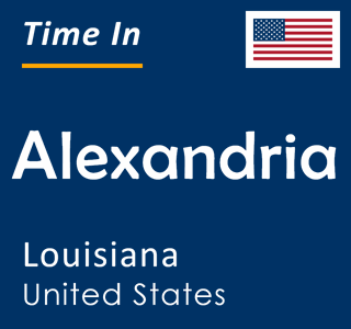 Current time in Alexandria, Louisiana, United States