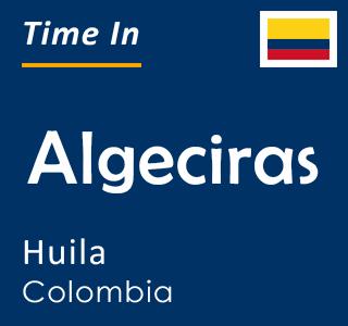 Current time in Algeciras, Huila, Colombia