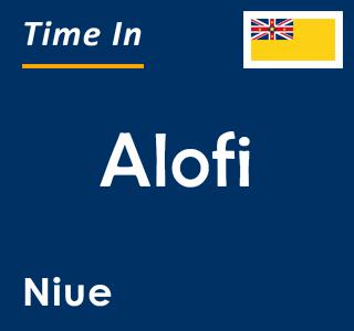 Current time in Alofi, Niue
