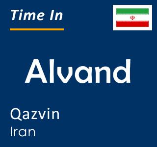Current time in Alvand, Qazvin, Iran