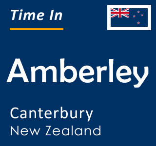 Current time in Amberley, Canterbury, New Zealand