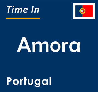 Current time in Amora, Portugal