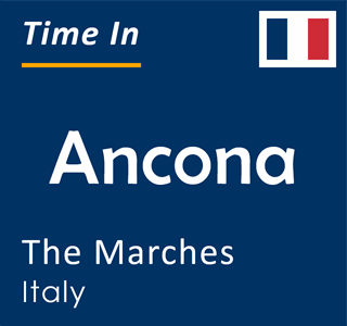 Current time in Ancona, The Marches, Italy
