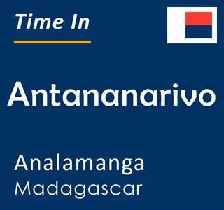 Current time in Antananarivo, Analamanga, Madagascar