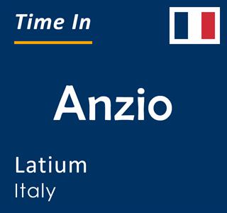 Current time in Anzio, Latium, Italy