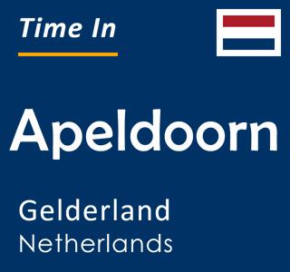 Current time in Apeldoorn, Gelderland, Netherlands