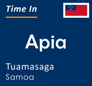 Current time in Apia, Tuamasaga, Samoa