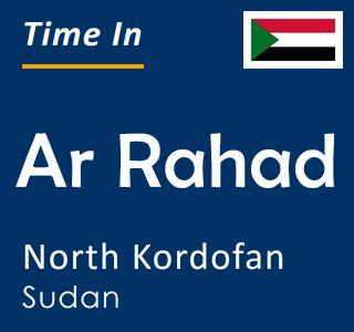 Current time in Ar Rahad, North Kordofan, Sudan