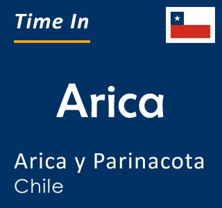 Current time in Arica, Arica y Parinacota, Chile