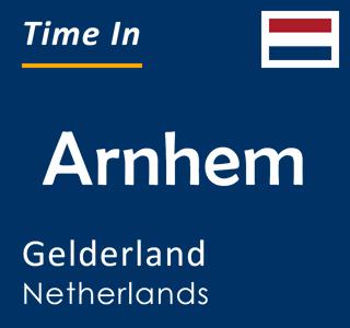 Current time in Arnhem, Gelderland, Netherlands