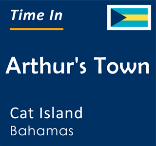Current time in Arthur's Town, Cat Island, Bahamas