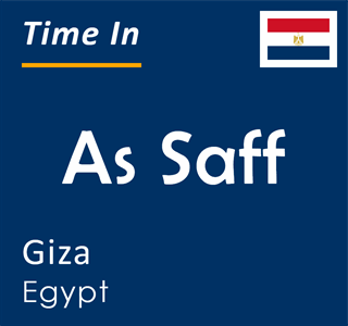 Current time in As Saff, Giza, Egypt