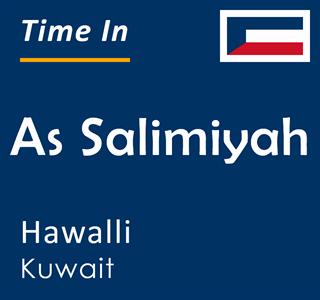 Current time in As Salimiyah, Hawalli, Kuwait