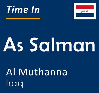 Current time in As Salman, Al Muthanna, Iraq