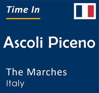 Current time in Ascoli Piceno, The Marches, Italy