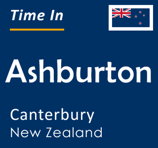 Current time in Ashburton, Canterbury, New Zealand