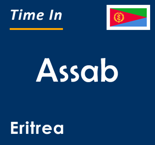 Current time in Assab, Eritrea