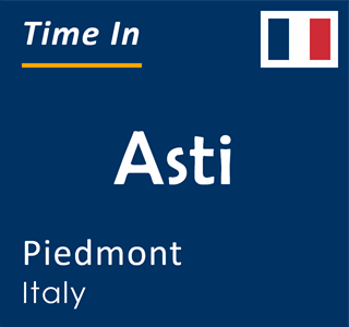 Current time in Asti, Piedmont, Italy