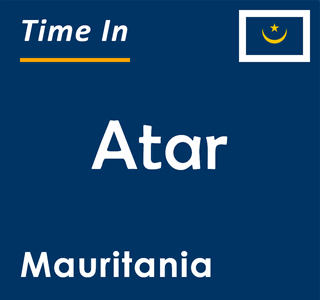 Current time in Atar, Mauritania