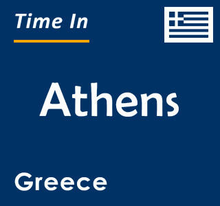 Current time in Athens, Greece