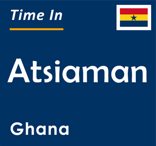 Current time in Atsiaman, Ghana