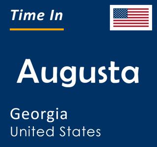 Current time in Augusta, Georgia, United States
