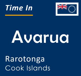Current time in Avarua, Rarotonga, Cook Islands
