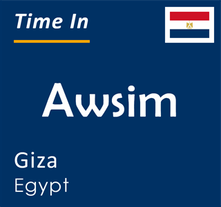Current time in Awsim, Giza, Egypt