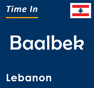 Current time in Baalbek, Lebanon