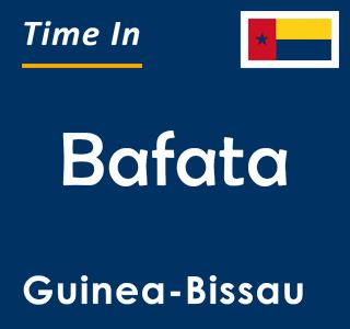 Current time in Bafata, Guinea-Bissau