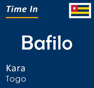 Current time in Bafilo, Kara, Togo
