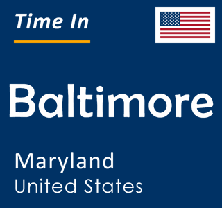 Current time in Baltimore, Maryland, United States