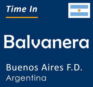 Current time in Balvanera, Buenos Aires F.D., Argentina