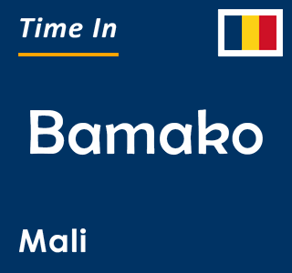 Current time in Bamako, Mali