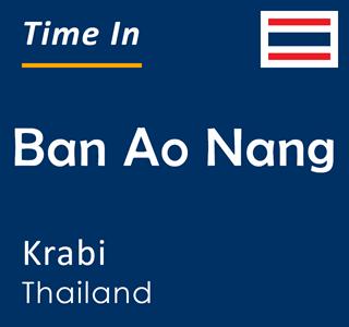 Current time in Ban Ao Nang, Krabi, Thailand