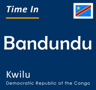 Current time in Bandundu, Kwilu, Democratic Republic of the Congo