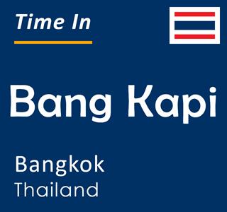 Current time in Bang Kapi, Bangkok, Thailand