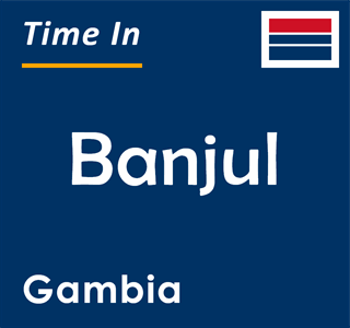 Current time in Banjul, Gambia