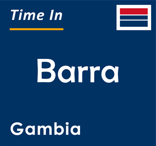 Current time in Barra, Gambia