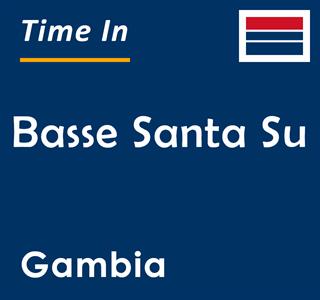 Current time in Basse Santa Su, Gambia