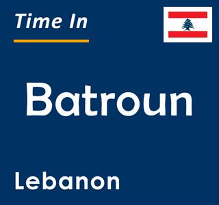 Current time in Batroun, Lebanon