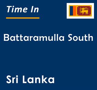 Current time in Battaramulla South, Sri Lanka