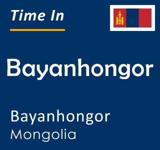 Current time in Bayanhongor, Bayanhongor, Mongolia