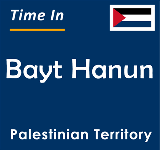 Current time in Bayt Hanun, Palestinian Territory