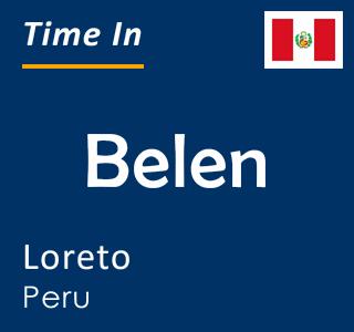 Current time in Belen, Loreto, Peru