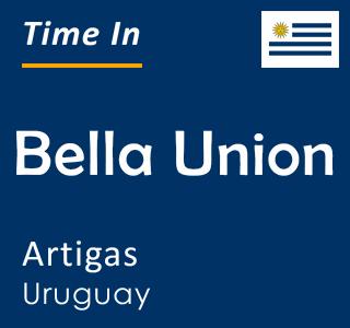 Current time in Bella Union, Artigas, Uruguay