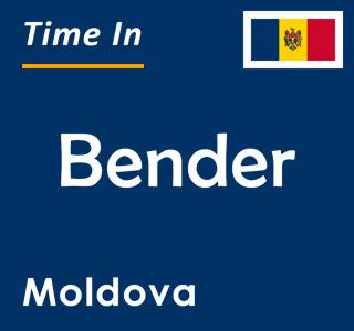 Current time in Bender, Moldova