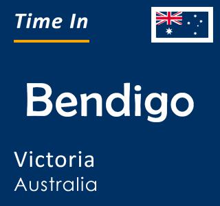 Current time in Bendigo, Victoria, Australia