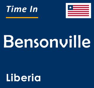Current time in Bensonville, Liberia